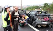 TEM'de gerçekleşen zincirleme kazada 9 araç birbirine girdi