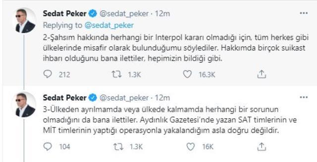 Sedat Peker'den 'gözaltına alındı' iddialarına yanıt: Yetkililerle karşılıklı sohbette bulunduk