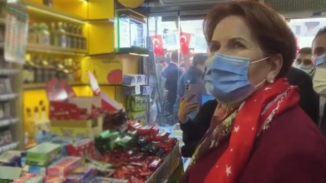 Şehit haberini esnaf ziyaretinde alan Meral Akşener dizlerini dövdü
