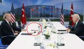 ABD'ye mesaj gibi hamle! Erdoğan-Biden görüşmesinde gözler masadaki kitaba kilitlendi