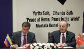 Son dakika haberleri... Dışişleri Bakanı Çavuşoğlu, Venezuela Dışişleri Bakanı Plasencia ile ortak basın toplantısında konuştu: (1)