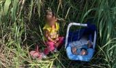 Biri 3 aylık, diğeri 2 yaşında! İki kardeşi nehir kenarına terk edip gittiler