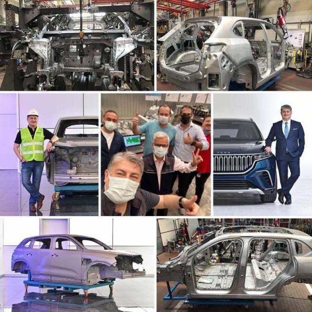 TOGG, montajı yapılan ilk yerli otomobilin gövdesinin görselleri yayınladı